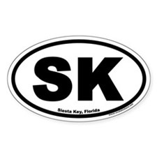 Siesta Key Florida SK Euro Oval Decal