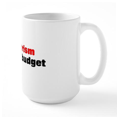 War is terrorism Large Mug