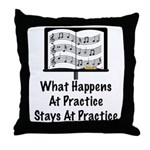 What Happens At Practice Orchestra Throw Pillow