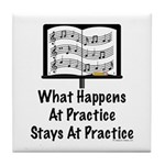 What Happens At Practice Orchestra Tile Coaster