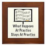 What Happens At Practice Band Framed Tile