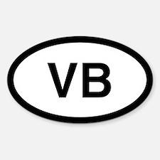 VB Oval Decal