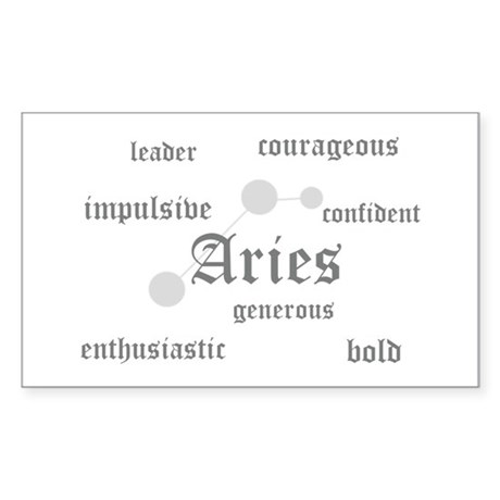 Aries Rectangle Sticker