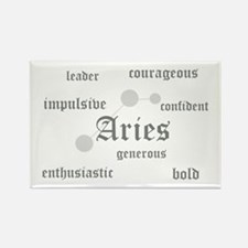Aries Rectangle Magnet