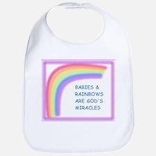 BABIES AND RAINBOWS ARE GOD'S Bib