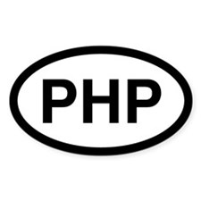 PHP Oval Decal