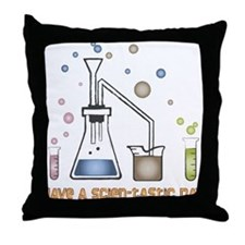 Scien-tastic Day Science Throw Pillow