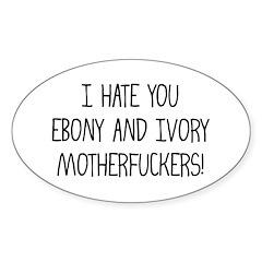 Ebony & Ivory Oval Decal
