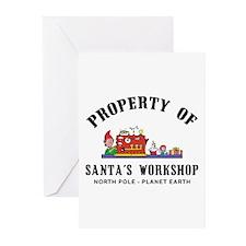 Property of Santa's Workshop Greeting Cards (Packa