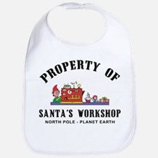 Property of Santa's Workshop Bib