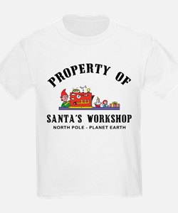 Property of Santa's Workshop Kids T-Shirt