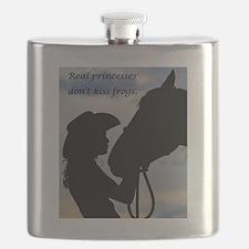 Cute Horse girl Flask
