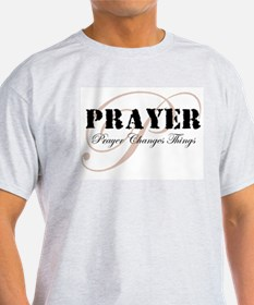 Prayer Ash Grey T-Shirt
