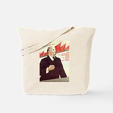 Lenin Socialist CCCP Tote Bag