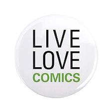 "Live Love Comics 3.5"" Button (100 pack)"