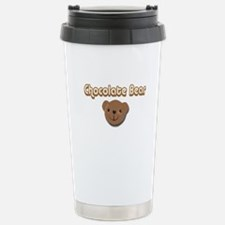 Chocolate Bear Stainless Steel Travel Mug