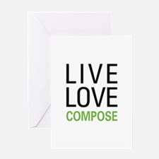 Live Love Compose Greeting Card