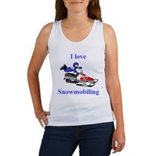 I Love Snowmobiling Women's Tank Top