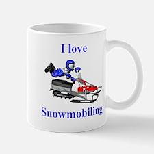 I Love Snowmobiling Mug