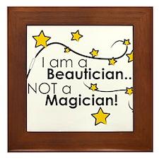 Beautician Magician Framed Tile
