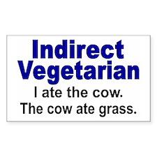 Indirect Vegetarian Rectangle Sticker 10 pk)