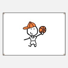 Boy & Basketball Banner