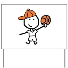 Boy & Basketball Yard Sign