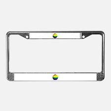 Rainbow Ornament License Plate Frame