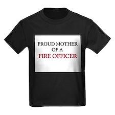 Proud Mother Of A FIRE OFFICER Kids Dark T-Shirt
