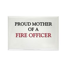 Proud Mother Of A FIRE OFFICER Rectangle Magnet