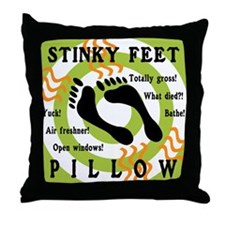 STINKY FEET PILLOW Throw Pillow