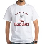 Play Buzkashi White T-Shirt
