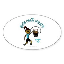 Basketball-Raegan Oval Decal