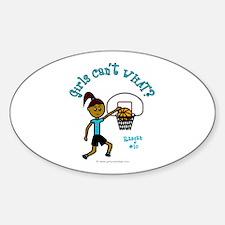 Basketball-Raegan Oval Decal