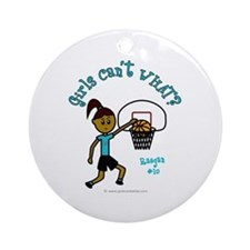 Basketball-Raegan Ornament (Round)