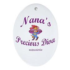 NANA'S DIVA Oval Ornament