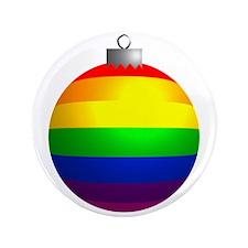 "Rainbow Ornament 3.5"" Button"