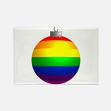 Rainbow Ornament Rectangle Magnet (100 pack)