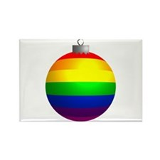 Rainbow Ornament Rectangle Magnet