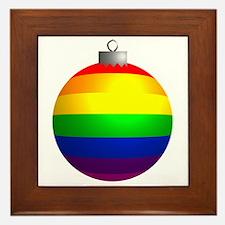 Rainbow Ornament Framed Tile
