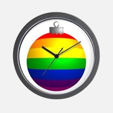 Rainbow Ornament Wall Clock