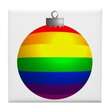 Rainbow Ornament Tile Coaster