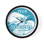 Team Continental Wall Clock
