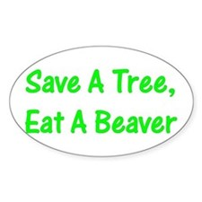 Save A Tree - Oval Decal