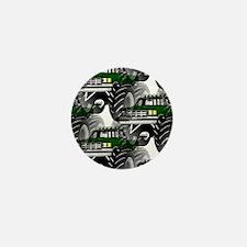 GREEN MONSTER TRUCKS Mini Button
