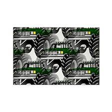 GREEN MONSTER TRUCKS Rectangle Magnet
