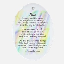 PEACE POEM - Oval Ornament