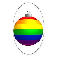 Rainbow Ornament Oval Decal