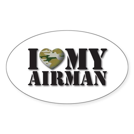 Love My Airman Oval Sticker
