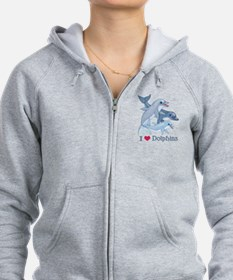 Dolphin Family and Text Zip Hoodie